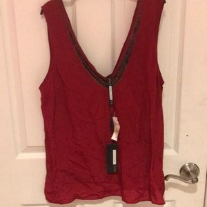 Plenty by Tracey Reese size Medium Dressy red top